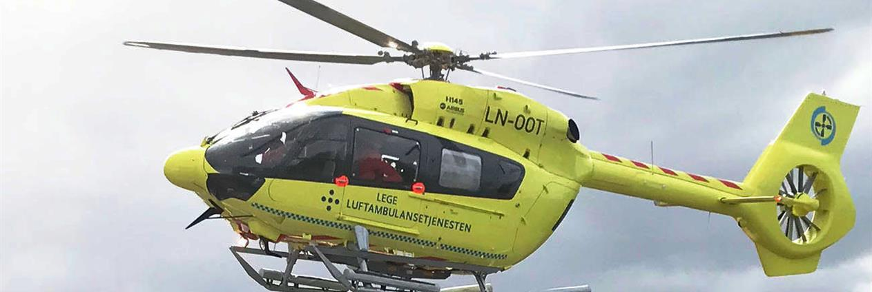Ambulansehelikopter i lufta
